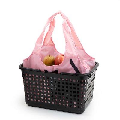 画像1: 【Abeille】Shopping Basket Bag ピンク ハチワレ /猫/黒/クロ猫/クロネコ/エコバッグ/ショッピングバッグ/買い物バッグ/ショッピングバッグ/キャット/cat/猫好き/
