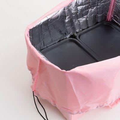 画像2: 【Abeille】Shopping Basket Bag ピンク ハチワレ /猫/黒/クロ猫/クロネコ/エコバッグ/ショッピングバッグ/買い物バッグ/ショッピングバッグ/キャット/cat/猫好き/