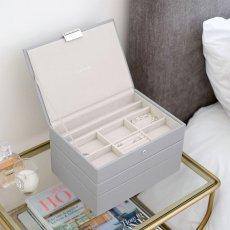 画像2: 【STACKERS】ジュエリーボックス 選べる3個セット  ペブルグレー gray グレイ グレー 蓋つき スタッカーズ ジュエリーケース ジュエリートレイ 重ねる 重なる アクセサリーケース イギリスデザイン ロンドン JEWELLRY BOX (2)