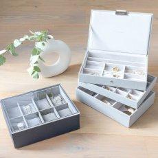 画像18: 【STACKERS】ジュエリーボックス 選べる3個セット  ペブルグレー gray グレイ グレー 蓋つき スタッカーズ ジュエリーケース ジュエリートレイ 重ねる 重なる アクセサリーケース イギリスデザイン ロンドン JEWELLRY BOX (18)