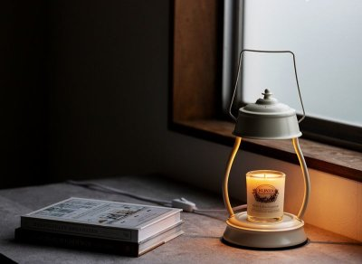 画像1: 香る照明『キャンドルウォーマーランプ L ハリケーン&マッサージキャンドル200』セット ライト アロマキャンドル アロマランプ ディフューザー ランタン