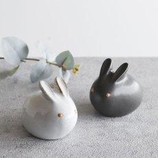 画像6: 【アイ・クラフト】 うさぎ ソルト&ペッパー 塩 こしょう /ウサギ/黒うさぎ 白うさぎ 兎/陶器/日本製 ハンドペイント インテリア (6)