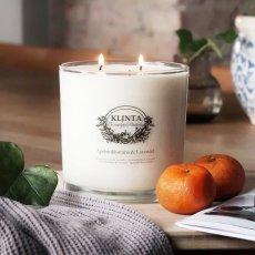 画像10: 【KLINTA】マッサージキャンドル  900ml 85時間 Three wick candle クリンタ スウェーデン イギリス製 アロマキャンドル アロマ 香り 北欧 ギフト キャンドル 癒し ロウソク 大きなキャンドル  (10)