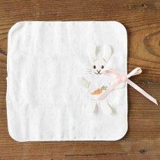画像6: 【天衣無縫】うさぎさんのポンチョ&ミニタオルセット  ギフト箱 ベビー お風呂 赤ちゃん タオル地 (6)