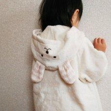 画像3: 【天衣無縫】お風呂うさぎポンチョ オーガニックコットン ベビー お風呂/クマポンチョ/日本製 (3)