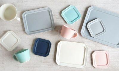 画像1: 【作山窯-SAKUZAN-】SAKUZAN DAYS Sara Stripe PlateM  ストライププレートM リム皿/お皿 19cm/プレート/取り皿/小皿/カフェ/サラ/磁器/日本製/陶器