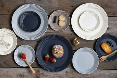 画像3:  【作山窯-SAKUZAN-】SAKUZAN DAYS Sara Stripe Plate S ストライププレートS リム皿/お皿 15cm/サラ/プレート/取り皿/小皿/カフェ/磁器/日本製/陶器