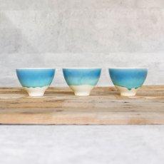 画像4: 【SAKUZAN】-藍- グラデーション 碗 茶碗 ターコイズ ボール カップ お碗 作山窯 日本製 美濃焼 釉薬 涼しげ  (4)