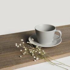 画像5: 【GIFT COLLECTION】B SAKUZAN DAYS Sara ストライプ カップ&ソーサー スプーン セット 新生活セット ギフト クリーム グレー Stripe Cup&Saucer コーヒーカップ/サラ/カフェ/磁器/日本製/陶器  (5)