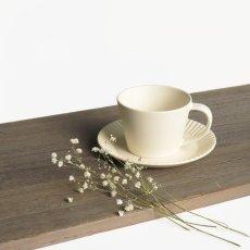 画像8: 【GIFT COLLECTION】B SAKUZAN DAYS Sara ストライプ カップ&ソーサー スプーン セット 新生活セット ギフト クリーム グレー Stripe Cup&Saucer コーヒーカップ/サラ/カフェ/磁器/日本製/陶器  (8)