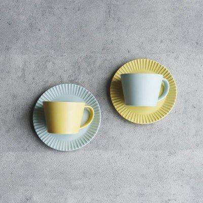 画像2: 【GIFT COLLECTION】C SAKUZAN DAYS Sara カップ&ソーサー ペアセット イエロー ターコイズ 新生活 母の日 ギフト Stripe Cup&Saucer コーヒーカップ/サラ/カフェ/磁器/日本製/陶器 ギフトコレクション