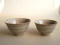 画像1: 【作山窯-SAKUZAN-】夫婦茶碗 イッチン/作山/陶器/日本製 (1)