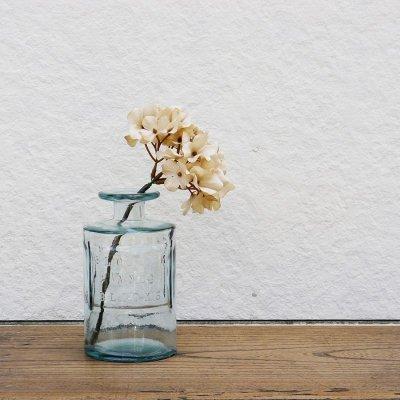 画像3: 【VALENCIA RECYCLE GLASS 】インテリア ガラスボトル ベース 花瓶 フラワーアレンジント 花器  BLUE PURPLE AMBER スペイン製 アンティーク風 100% リサイクルガラス レトロ