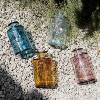 画像2: 【VALENCIA RECYCLE GLASS 】インテリア ガラスボトル ベース 花瓶 フラワーアレンジント 花器  BLUE PURPLE AMBER スペイン製 アンティーク風 100% リサイクルガラス レトロ