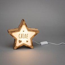 画像5: 【VINTIUN】ビンティウン スターライト 木製星型ライト  ナイトライト カスタマイズ 照明 オリジナル ランプ ナイトランプ 子供部屋 インテリア スペイン製 (5)