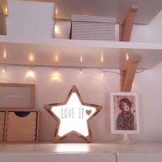 画像4: 【VINTIUN】ビンティウン スターライト 木製星型ライト  ナイトライト カスタマイズ 照明 オリジナル ランプ ナイトランプ 子供部屋 インテリア スペイン製 (4)