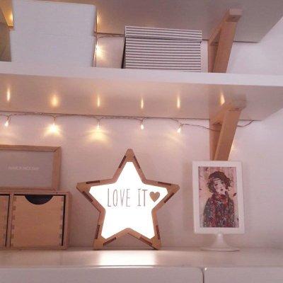 画像2: 【VINTIUN】ビンティウン スターライト 木製星型ライト  ナイトライト カスタマイズ 照明 オリジナル ランプ ナイトランプ 子供部屋 インテリア スペイン製