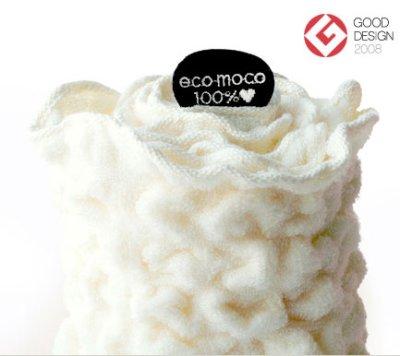 画像1: 【eco moco】エコモコ フェイスタオル/ハネル糸/オゾン漂泊 /スノー/ホワイト/今治製タオル/日本製/もこもこ/モコモコ/ワッフル
