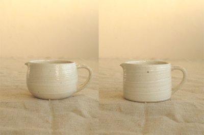 画像1: 【藤田千絵子】 クリーマー 丸 ストレート ハンドメイド 作家 陶芸作家 器 陶器
