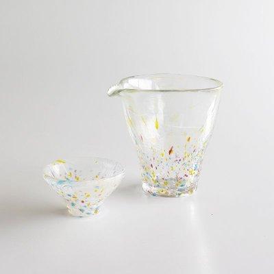 画像2: 【江戸硝子】ガラス 片口 徳利 酒器 江戸 浮世 うきよ 手作り