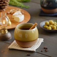 画像2: 【SALIU】ころころ SA02 湯呑み ロックカップ ホワイト 白 ネイビー 紺 イエロー 黄色 ロロ LOLO 陶器 日本製 (2)