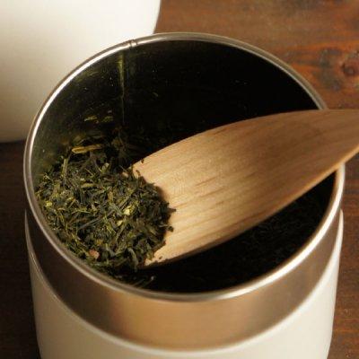 画像3: 【SALIU】茶缶 375g 保存容器 白 オフホワイト 和テイスト 和風 シンプル キャニスター 保存容器 ブリキ 日本製 LOLO