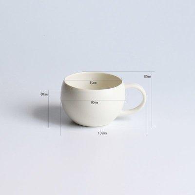 画像3: 【SALIU】結 YUI  ティーカップ 湯飲み 紅茶のための茶器  陶器  磁器 白磁 丸い かわいい 可愛い 美濃焼 急須 日本製  LOLO ロロ  おしゃれ かわいい 茶こし 人気 おすすめ デザインソーサー 急須 ティーポット