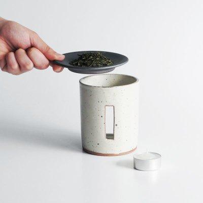 画像3: 【SALIU】茶香炉 さのか  薫るギフトセット 茶缶 敷板 緑茶 お茶 アロマ 癒し フレグランス 香炉 美濃焼き 白川茶 磁器 陶器 プレゼント ギフト お茶っぱ 香る