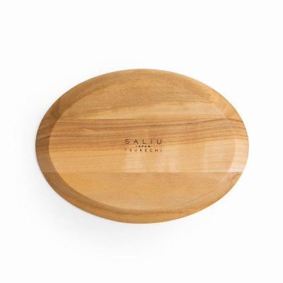 画像1: 【SALIU】結 YUI 山桜オーバル プレート 木製ソーサー 茶托 皿 小皿  かわいい 可愛い 日本製  LOLO ロロ  おしゃれ 紅茶のための茶器 きゅうす 人気 おすすめ デザイン