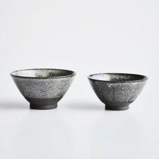 画像3: 【SALIU】飯碗 SA01 大 黒 お茶碗 ごはん碗 夫婦茶碗 陶器 日本製 (3)