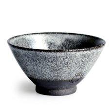 画像1: 【SALIU】飯碗 SA01 大 黒 お茶碗 ごはん碗 夫婦茶碗 陶器 日本製 (1)