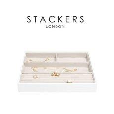 画像8: 【STACKERS】ジュエリーボックス 選べる4個セット  ホワイト クロコ white 白 スタッカーズ ジュエリーケース ジュエリートレイ 重ねる 重なる アクセサリーケース イギリスデザイン ロンドン JEWELLRY BOX (8)