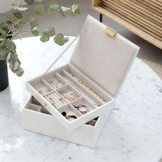 画像3: 【STACKERS】ジュエリーボックス 選べる4個セット  ホワイト クロコ white 白 スタッカーズ ジュエリーケース ジュエリートレイ 重ねる 重なる アクセサリーケース イギリスデザイン ロンドン JEWELLRY BOX (3)