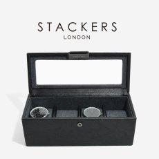 画像1: 【STACKERS】時計 ボックス 4個 時計  ブラック スタッカーズ ジュエリーケース  イギリス ロンドン ジュエリー クセサリー ケース 収納 (1)