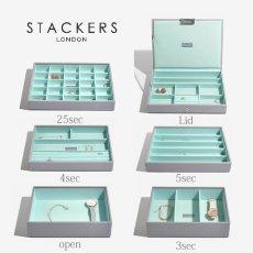 画像2: 【STACKERS】ジュエリーボックス  選べる3個セット ミント グレー/グレー ターコイズ /スタッカーズ/ジュエリーケース/ジュエリートレイ/重ねる/重なる/アクセサリーケース/イギリスデザイン/ロンドン/JEWELLRY BOX (2)