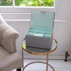 画像10: 【STACKERS】ジュエリーボックス  選べる3個セット ミント グレー/グレー ターコイズ /スタッカーズ/ジュエリーケース/ジュエリートレイ/重ねる/重なる/アクセサリーケース/イギリスデザイン/ロンドン/JEWELLRY BOX (10)