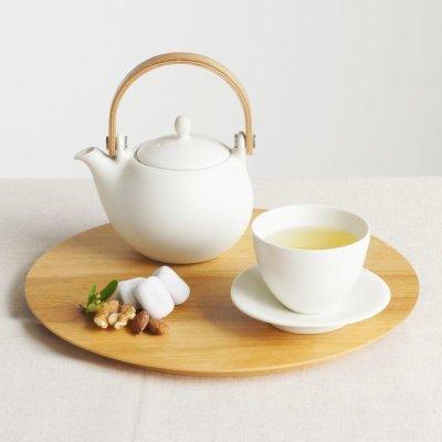 画像1: 【SALIU】結 YUI 小皿 豆皿 白 ホワイト 陶器 磁器 白磁 円 かわいい 可愛い 美濃焼 日本製 深山 miyama