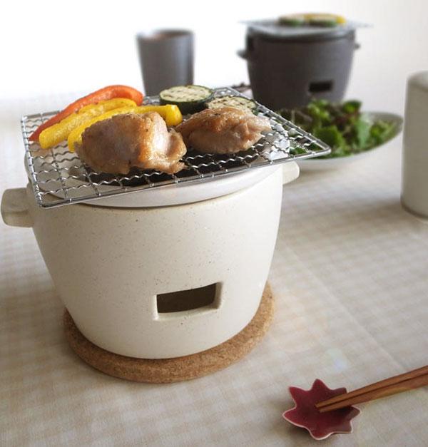 画像1: 【SHIKIKA】炭焼き水コンロ 小/グリル/七輪/日本製/ロロ/綾鷹 (1)