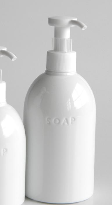 画像1: 【PL】ソープボトル/ソープディスペンサー/日本製/白磁器/陶器製/300ml  (1)