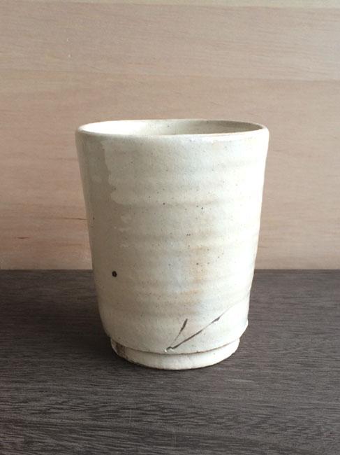 画像1: 【加藤仁志】湯呑み/タンブラー/コップ/カップ/作家/粉引き/陶器  (1)