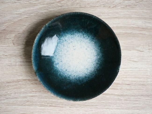 画像1: 【作山窯-SAKUZAN-】-凛-平皿<小>/プレート/紺吹き/取り皿/小皿/日本製/陶器 (1)