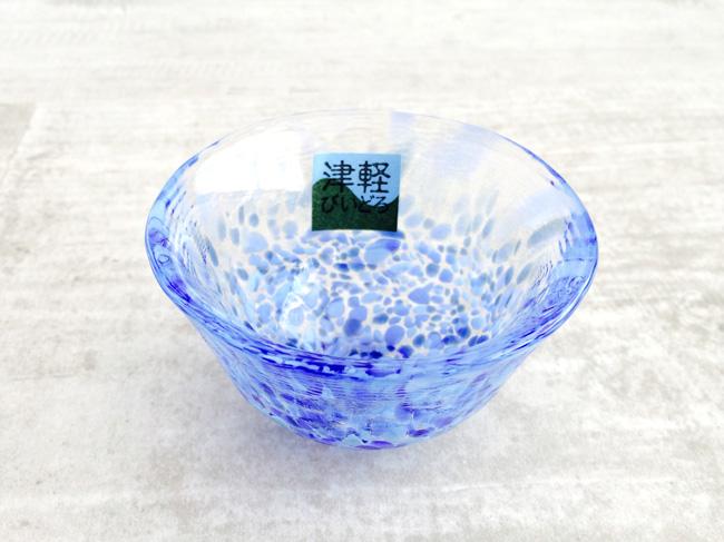 画像1: 【津軽びいどろ】盃  岩清水 B-3/小鉢/冷酒/おちょこ/ぐいのみ/盃/ミニグラス/ガラス食器/石塚硝子/アデリア/日本製 (1)