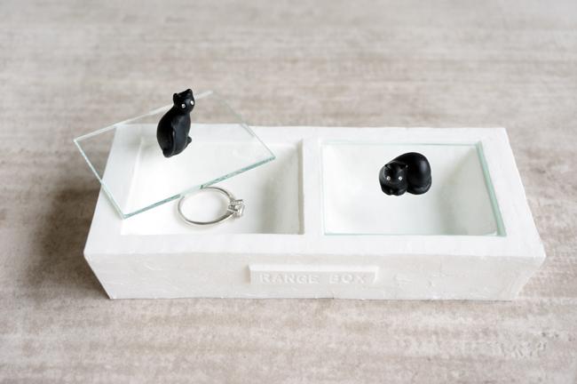 画像1: 【Neco】ネコ 2レンジボックス ブラック 小物入れ/ジュエリーボックス/指輪置き/猫/ねこ/キャット/cat/ティーズコレクション T's COLLECTION (1)