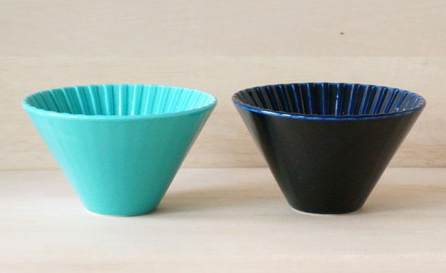 画像1: 【ORIGAMI】ドリッパー 丸 Dripper M /ターコイズ/ネイビー/陶器/磁器/日本製 (1)