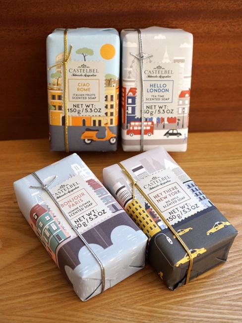 画像1: 【CASTELBEL】ハローシティ コレクション  固形ソープ150g/固形石鹸/ポルトガル製 (1)