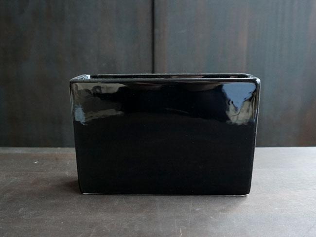 画像1: 【フラワー】simple vase rectangle  シンプルベースレクタングル M 白・黒/長方形/陶器/Clay/クレイ (1)