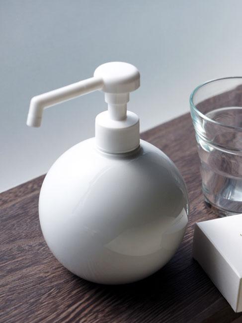 画像1: 【Globe】グローブ シャワーボトル 除菌 無地 磁器 丸 ディスペンサー 詰替え容器 日本製 ロロ LOLO 350ml ウィルス対策 インフルエンザ予防 (1)
