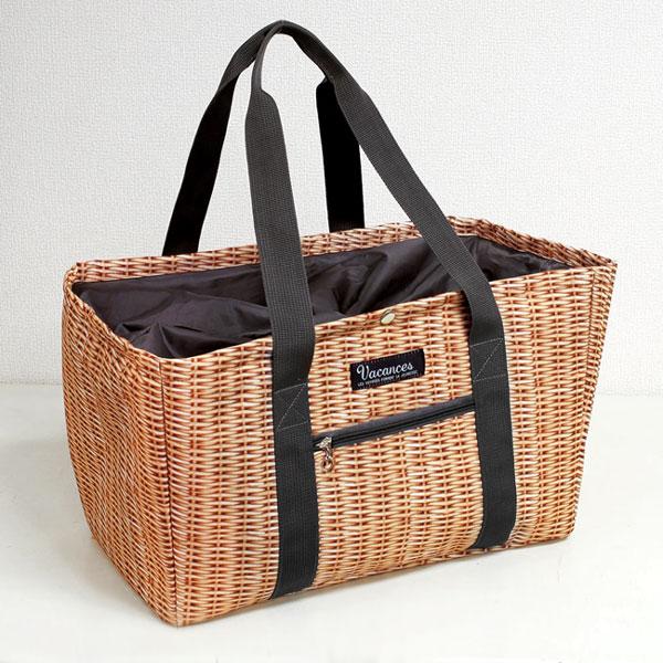 画像1: 【SPICE】 バカンス クーラーショッピングトートバッグ パニエ/エコバッグ/鞄/かばん/ピクニック (1)