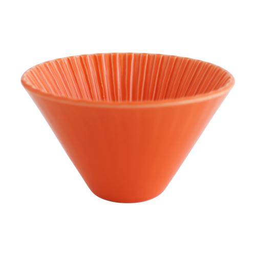 画像1: 【ORIGAMI】ドリッパー 丸 Dripper M/オレンジ/白/陶器/磁器/日本製 (1)