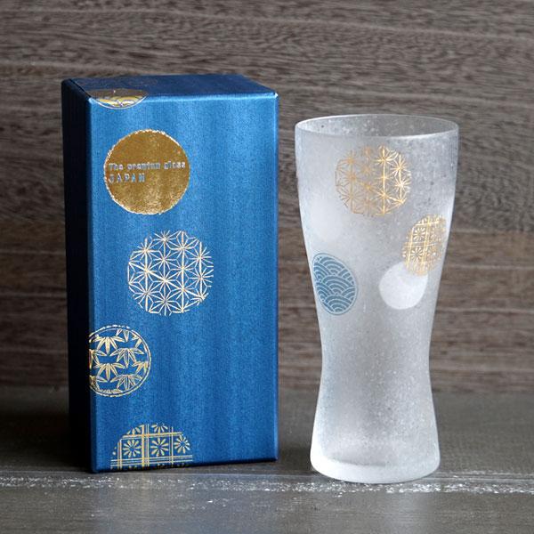 画像1: 【THE Premium NIPPON Taste】泡づくりプレミアム丸紋M 1個販売/ガラス/ビアグラス/ガラス食器/ギフト/プレゼント/記念日/お祝い/石塚硝子 (1)